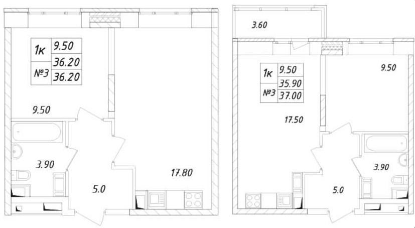 Однокомнатные квартиры улучшенной планировки