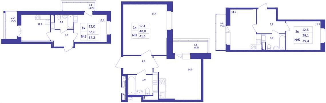 Планировки нестандартных однокомнатных квартир