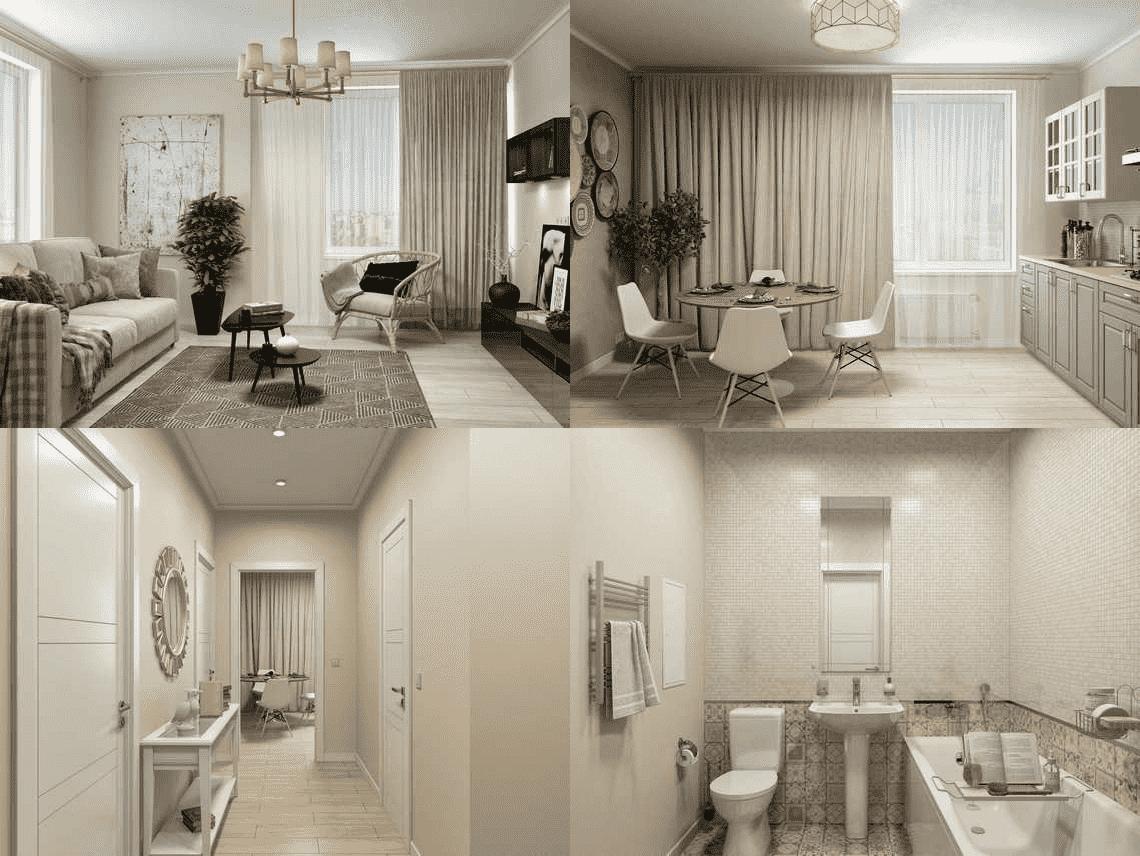 Квартиры с мебелью в корпусах 7-8  «Спутник» Строгино