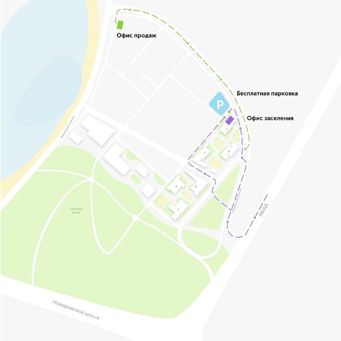 Офисы продаж и заселения на территории ЖК «Спутник» Строгино